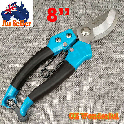 Bypass Pruner Lightweight Professional Shears Stainless Blade With Locking Clasp
