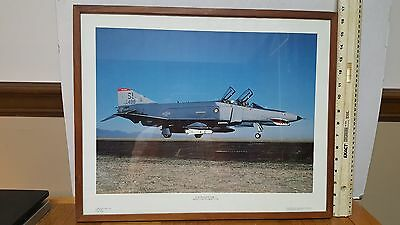 F-4 PHANTOM II - Art Print by Power Graphics Corp 1980s  NICELY FRAMED!!!