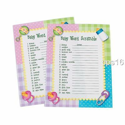 """Baby Shower Game """"Baby Word Scramble"""" Game...24 Sheets"""