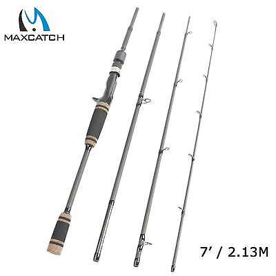 Maxcatch Bait Casting Rod 7' 4-20lbs 4 Pieces Trigger Grip Fishing Rod