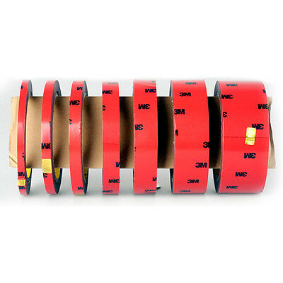 3M Vehicle Foam Tape Attachment Double Sided Sticker Car Adhesive Acrylic 6-20MM