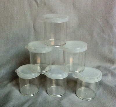 Pack of 6 - 20ml Plastic Craft Containers - Paint Ink Pots
