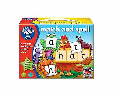 Orchard Toys Match And Spell Educational Board Game Toddler Kids Gift Toy