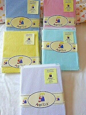 Junior Joy Pram Fitted Stretch Terry Fitted Sheet Lemon/Yellow,White,Blue