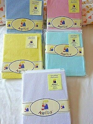 Pram Mattress Fitted Stretch Terry Fitted Sheet Yellow,White,Blue 40 x 80 cm