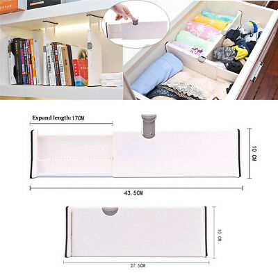 Drawer Dividers White Spring Loaded Expandable Kitchen Bedroom Organizer   PQ