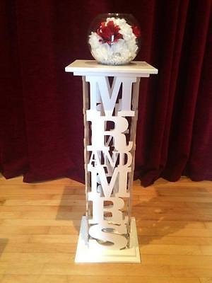 Mr And Mrs Columns For Hire Wedding Decorations Engagement Party Love Top Table