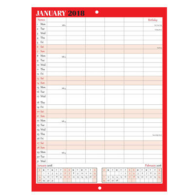 2017 Large Month To View Planner Quality Calender Wall Hanging Planner -St-9306