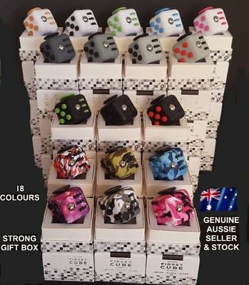 *2017 Deluxe Fidget Cube Anxiety Stress Relief Focus Attention Therapy Gift Toy*
