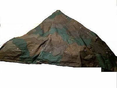 SWEDISH ARMY MILITARY Poncho Zeltbahn Shelter Tent Quarter Surplus Quarter  Only