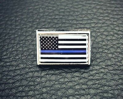 Thin Blue Line American Flag Police Lapel Pin Tie Tac Hat Pin Support Police