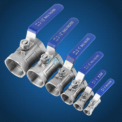 "1/4"" 3/8"" 3/4"" 1"" 1-1/4"" 1-1/2"" BSP Ball Valve SS 304 WOG1000 Threaded"