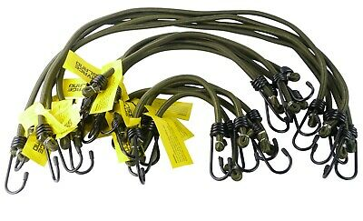 Elasticated Bungee Cords Military Army Basha Straps Hook Luggage Multi colour