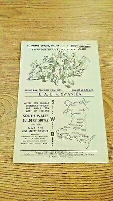 Swansea v Universities Athletic Union 1947 Rugby Union Programme