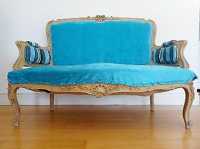 Antique French Louis XV Style Settee, Sofa,19th Century Circa 1850-1870