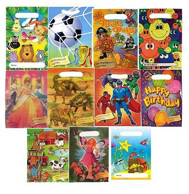 Children's Themed Loot Bags, Boys Birthday Party Bags, Girls Treat and Gift Bags