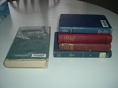 Lot Of 5 Old Books About England -Literature, Poems, History