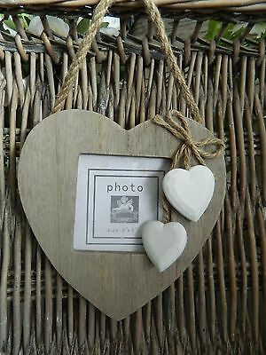 Heaven Sends Distressed Shabby Chic Wood  Heart  Photo Frame /Home Decor/Gift