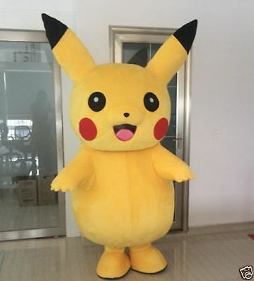 Hot Pikachu Squarepants Mascot Costume Fancy Dress Adult Size Fast Shipping