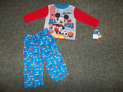 Boys Size 24 Month Mickey Mouse clubhouse Two-Piece Pajamas Pj's Set NWT