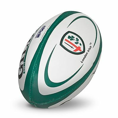 Gilbert Replica Rugby Ball - Size 5 - White/Green H297