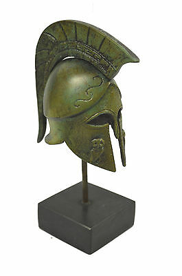 Helmet Bronze Ancient Greek marble based miniature artifact