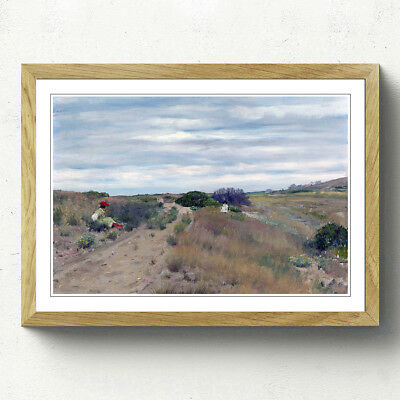 Oak A2 (25x18 Inch) Framed Print William Merritt Chase The Old Sand Road