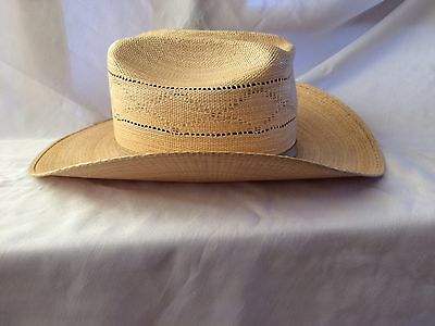 Vintage BAILEY U-ROLLIT ~Woven Straw Cowboy Hat~Made in USA~Men's Size 6 7/8