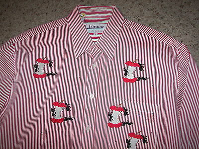 """Women's Fortune Shirt """"Ants Eating Apples"""" - Size L"""