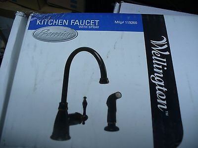 Premier Black Wellington Tall Kitchen Faucet W Spray Shop Waz 4 Best