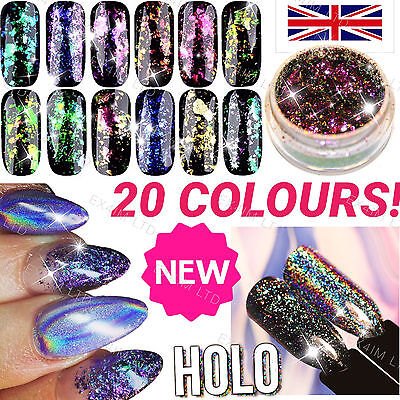 Chameleon Nail Flakes Multichrome Powder Color Shifting Nails Rose Gold TREND UK
