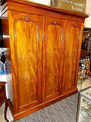 Large ANTIQUE Walnut ARMOIRE- Exceptional Circa 1860 - French or English Origin