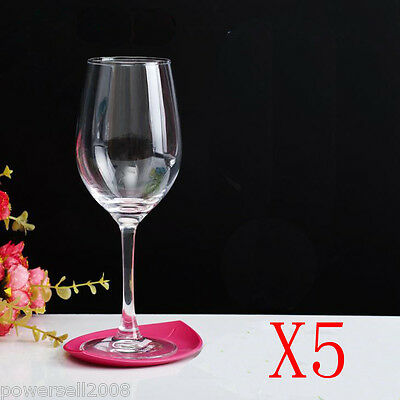 5X 270ML Contracted Toughened Glass Red Wine Foreign Wine Goblet Multi-Use NN
