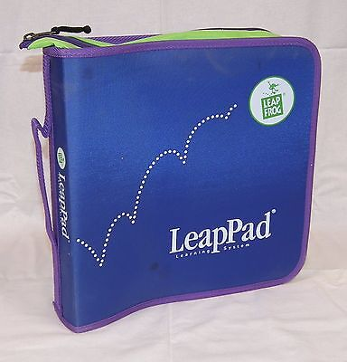Leap Frog LeapPad Learning System Blue & Green Zippered Storage Binder / Case