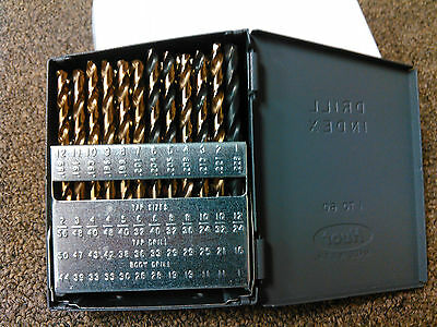Cobalt Drill Bit Set #1-60, Jobber Length, USA Made