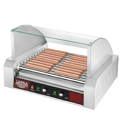 Great Northern Popcorn Commercial 30 Hot Dog 11 Roller Grilling Machine w/Cover