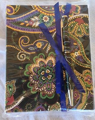 NWT VERA BRADLEY Notecards With Pen Kiev Paisley Pattern
