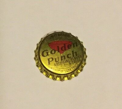 Vintage Golden Punch cork lined soda bottle cap