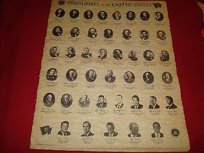Presidents of the United States of America, Poster 23 x 28 inches