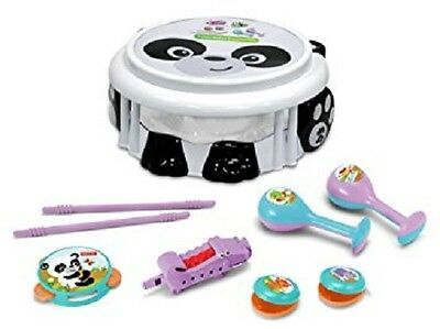 Fisher-Price Panda Bear 7-Piece Musical Band Drumset Instruments Set NEW