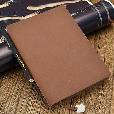 eBerry® Classic Leather Notebook Retro Vintage Notebook/Journal/Diary Medium for