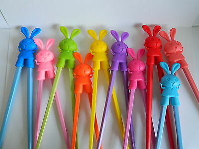 Children Kids Training Learning Chopsticks for Beginners - Rabbit - UK seller