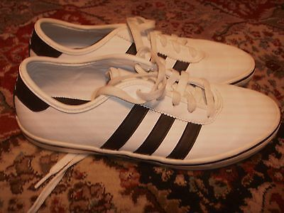 Adidas David Beckham White/black Leather Mens Size 7.5