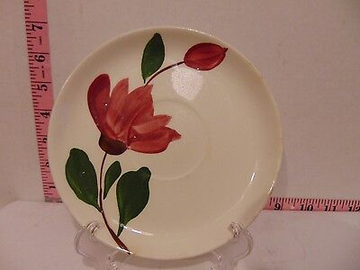"""Stetson Heritage Ware Hand Painted 6"""" Saucer Pink Flower"""