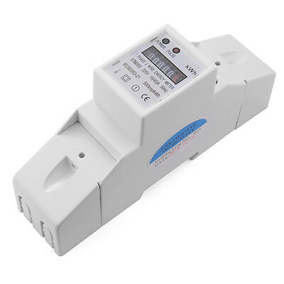 230V 10(40A) DIN Rail Single Phase Kilowatt Hour kWh Electric Energy Meter TE556