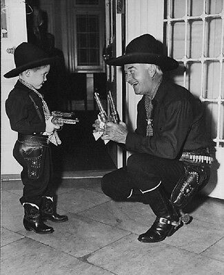 "Cowboy William Boyd Hopalong Cassidy with child 8"" x 10"" Photo 3"