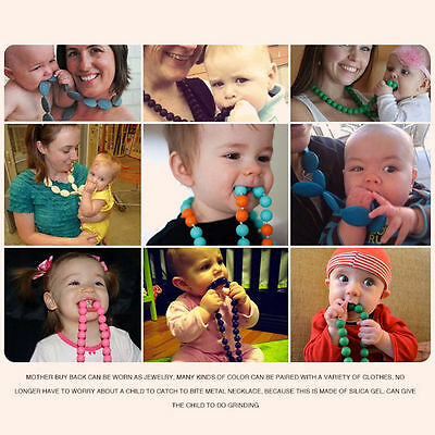Jewelry Bracelets Silicone Beabies Breastfeeding Necklace Teething Chew Teethers