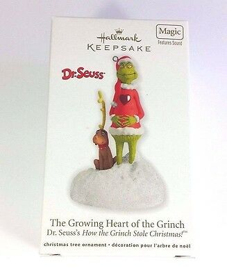 "Hallmark GRINCH Ornament ""The Growing Heart of the Grinch"" Dr. Seuss *2011*"