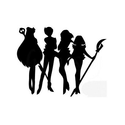 Handsome Outer Animation Silhouette Figures Sailor Moon Car Sticker for Window