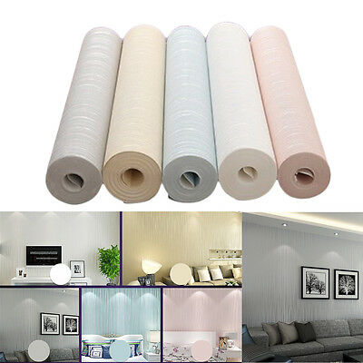 10m 3D Embossed Non-woven Wallpaper Roll Living Room Bedroom Wall Decoration HOT